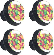 Glass Drawer Knobs - 4 Pcs 35MM Tropical Pineapple