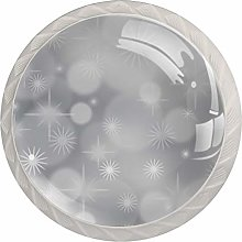 Glass Dresser Knobs Gray Diaphragm Color Multi