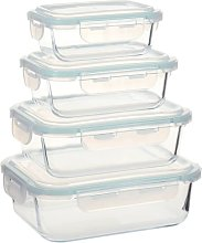 Glass Food Storage Containers 4 Pieces