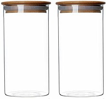 Glass Food Storage Containers with Bamboo Lids,