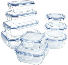Glass Food Storage Containers with Lids, [18