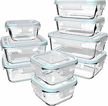 Glass Food Storage Containers with Lids - Glass