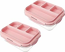 Glass Food Storage Set/ 2 Packs Glass Meal Prep
