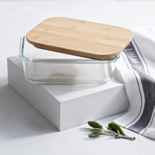 Glass Large Storage Box, Clear, One Size