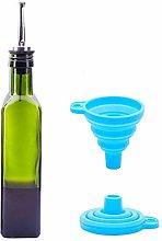 Glass Olive Oil and Vinegar Bottles Cruet with