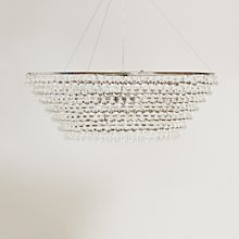 Glass Orb Chandelier Large Ceiling Light, Clear,