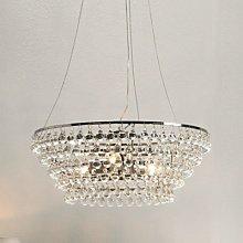 Glass Orb Chandelier Medium Ceiling Light, Clear,