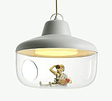 Glass Pendant Light, Drum Hanging Lights with