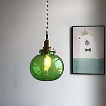 Glass Pendant Light Vintage Industrial Metal Brass