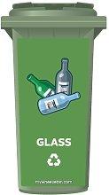 Glass Recycling Bin Wheelie Bin Sticker Panel Small