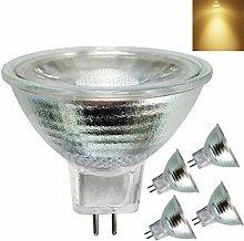 Glass Reflector 5W LED MR16 AC/DC12V,Warm White
