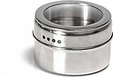 Glass/Stainless Steel Spice Storage Jar, Kitchen