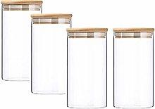 Glass Storage Jar with Bamboo Lids, Smofax