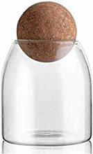 Glass Storage Jar with Cork Lid,Food Storage