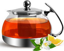 Glass Teapot Tea Maker 1.2 L with Removable