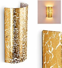 Glass Wall Light Modica with Gold Effects, Wall