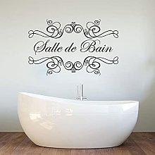 Glass Wall Sticker Shower Room Bathroom Word Door
