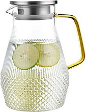 Glass Water Pitcher with Tight Stainless Steel