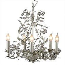 Glasser 5-Light Candle-Style Chandelier Fleur De