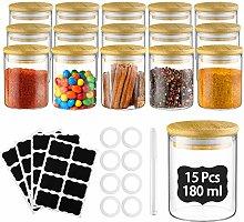 Glastal 15 Spice Jar 180ml Round Borosilicate