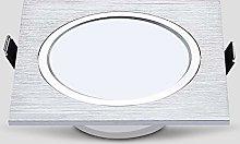 GLBS 3W/5W/7W/12W Brushed Silver Square Single