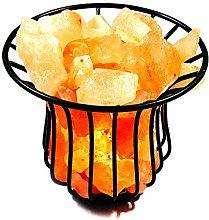 Gleam Himalayan Salt Lamp Basket with Pure Salt