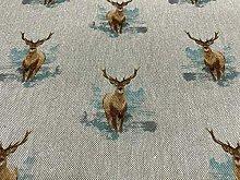Glencoe Stags Linen/Cotton 140 cm Wide