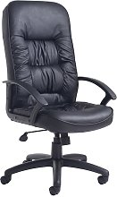 Glender High Black Leather Executive Office Chair
