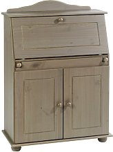Glenna Secretary Desk Three Posts Colour: Taupe