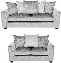 Glitz 3 Seater + 2 Seater Fabric Scatter Back Sofa