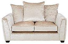 Glitz Fabric 2 Seater Sofa - Champagne