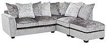 Glitz Right-Hand Fabric Corner Chaise Sofa