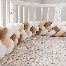 GLITZFAS 220cm Four Weave Baby Crib Bumper Knotted