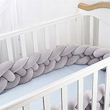 GLITZFAS Baby Crib Bumper Knotted Braided Soft Cot