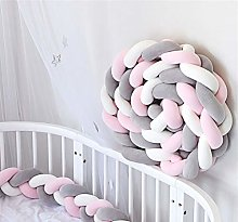 GLITZFAS bed border baby bed knot cushion bumper