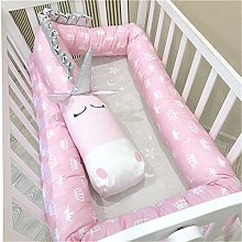 GLITZFAS Bed Bumper for Toddlers 200cm Soft Baby