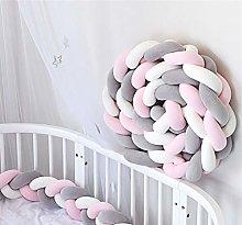 GLITZFAS Cot Bumper Baby Cot Knot Cushion Bumper