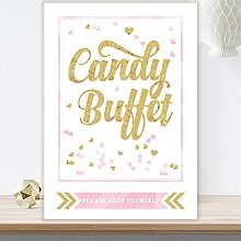 Glitzy Glam Candy Buffet Table Sign Available In A