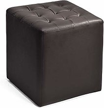 GLJJQMY Square Stool Leather Shoes Bench European