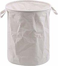GLJYG Foldable Washing Basket Cotton Linen Laundry