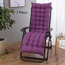 GLLSZ 2 Pieces Patio Chaise Lounger Cushion Indoor