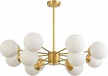 GLLSZ Sputnik Chandelier Modern 12 Lights Brushed