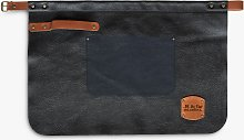 GLOBAL Deluxe Waist Length Leather Apron, Black