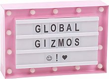 Global Gizmos 14 LED Marquee My Pink Lightbox 60