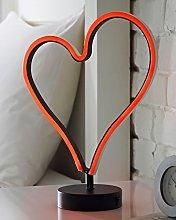 Global Gizmos 40200 LED Neon Heart Light   Mains