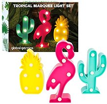 Global Gizmos Marquee Lights - Set of 3 Tropical