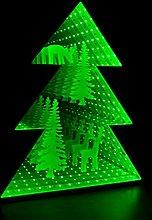 Global Gizmos Xmas Tree Infinity Mirror Light with