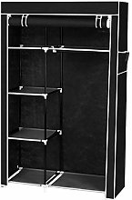 GlobalDeal Direct Double Fabric Canvas Wardrobe
