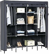 GlobalDeal Direct Wardrobe with Durable canvas