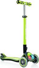 Globber Elite Lights 3 Wheel Scooter - Lime Green